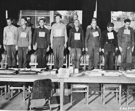 One of the first war crime trials; I haven't seen one in color yet.