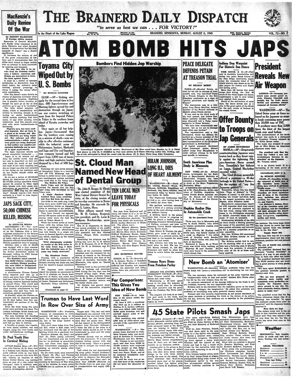 atomic bombing of hiroshima essay As commonly perceived, atomic bombs were intended as a deterrent to the german threat, but ended up as an offensive weapon of mass destruction against japan i.