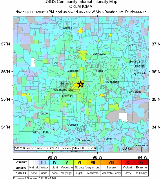 Oklahoma Fracking Zone Suffers Biggest OK Quake Ever