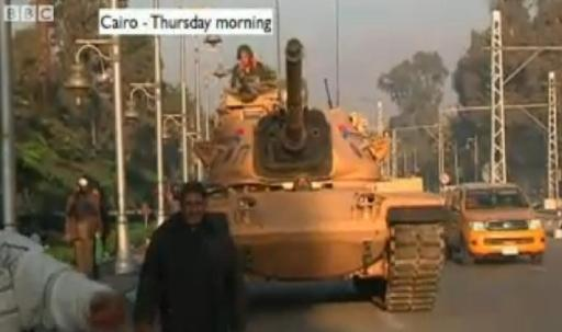 Cairo tanks roll in