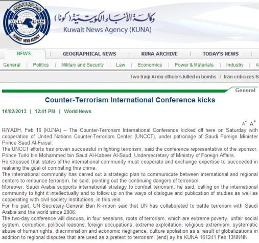 Counter Terrorism Int Conference
