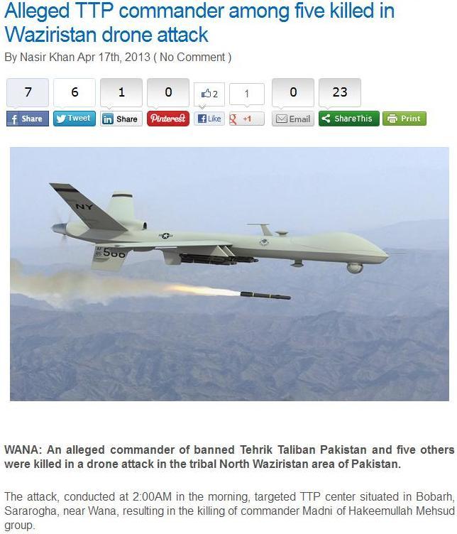 Sararoga drone attack 4-17-2013