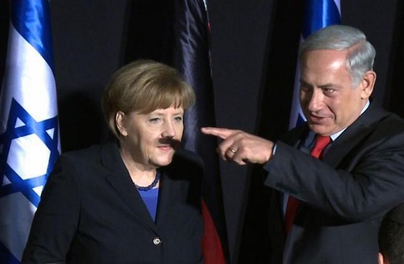 Netanyahu Merkel Hitler