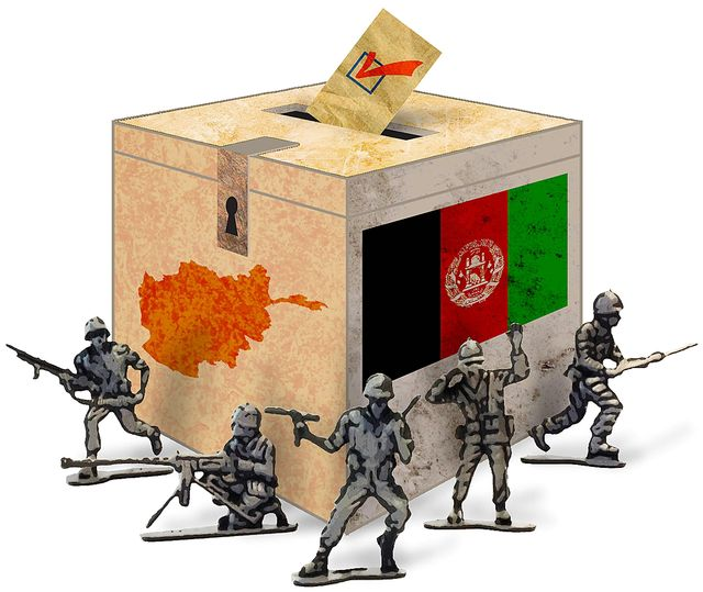 Afghan Election Soldiers Illustration by Greg Groesch The Washington Times