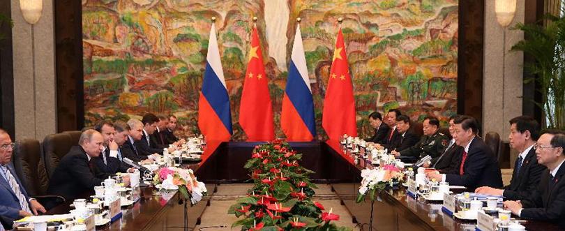 Chinese Russian pres at Shanghai
