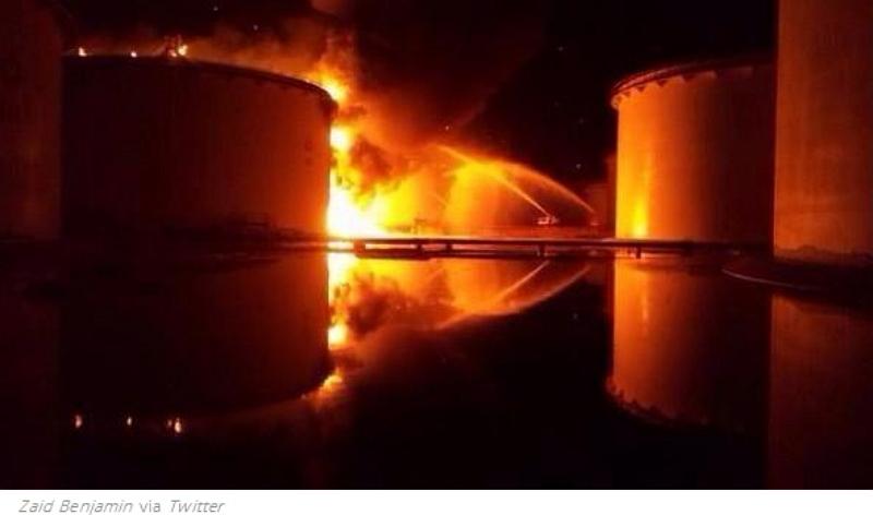 tripoli fuel tank fire