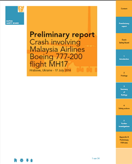 MH-17 Dutch Safety Board Report