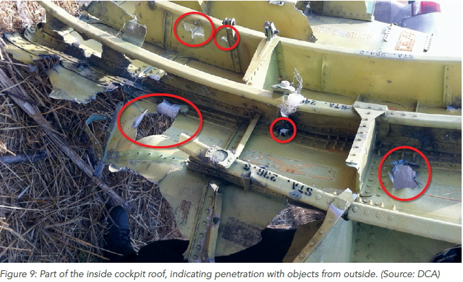 mh 17 roof holes