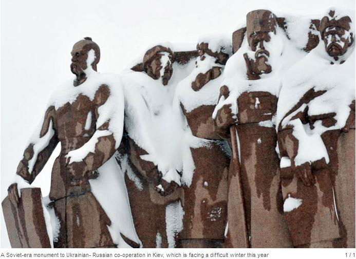 ukraine snow statue