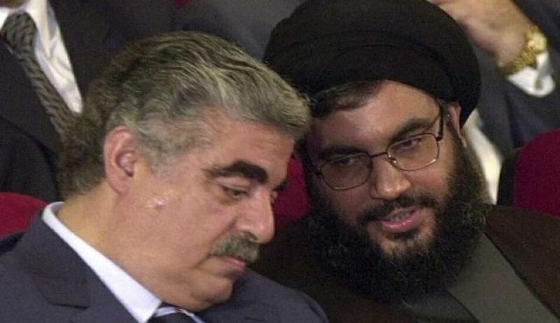 Rafik Hariri and Hezbollah leader Hassan Nasrallah
