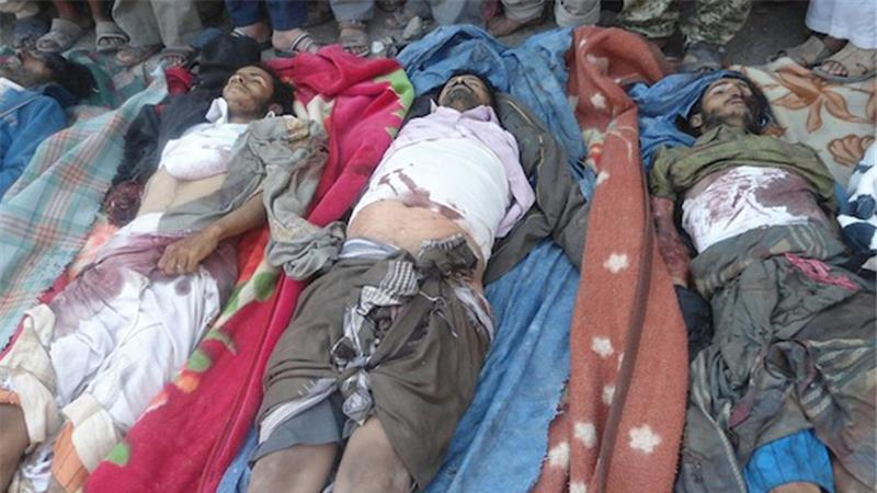 victims killed in a December 12, 2013 drone strike in central Yemen
