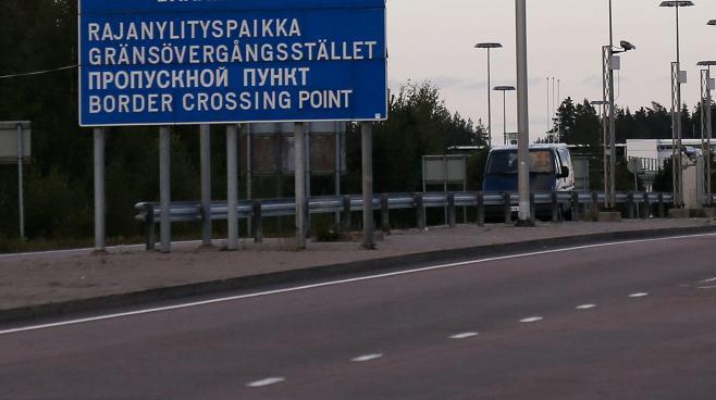 rus finnish border cross