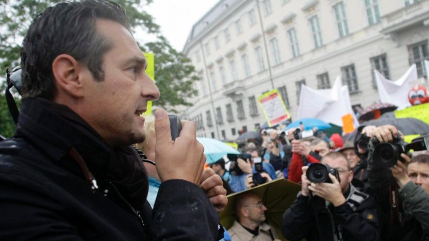 Austrian Freedom party leader Heinz-Christian Strache