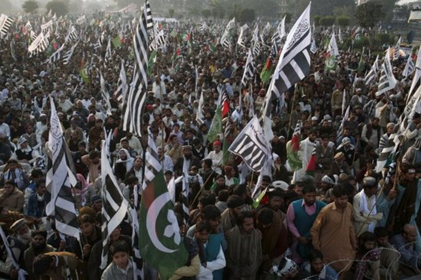 anti-US rally in Lahore in December 2011