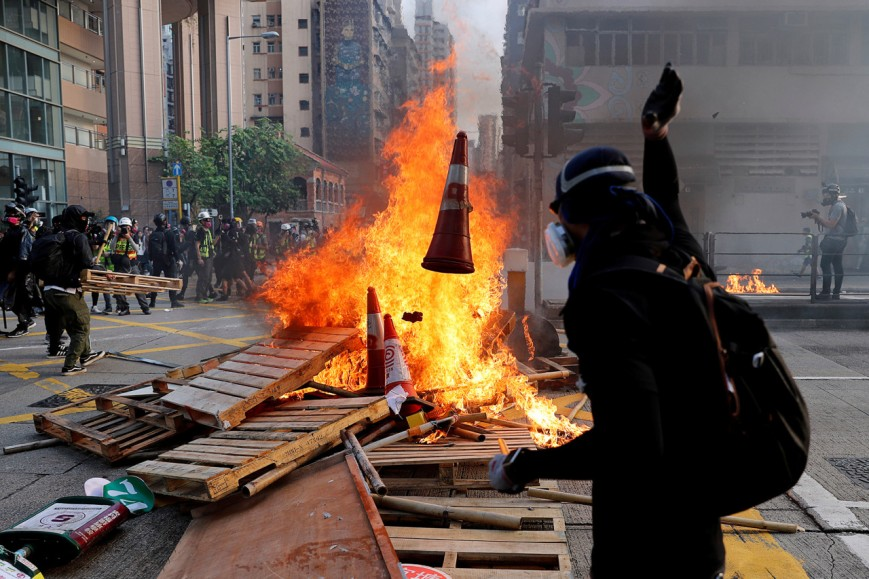 Anti-government demonstrators