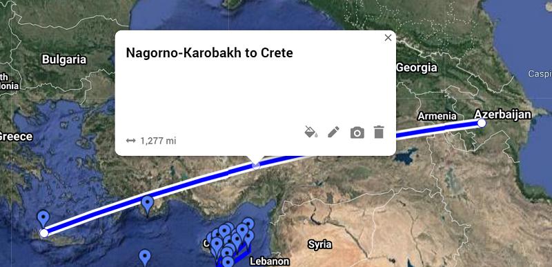 nagorno karabakh to crete